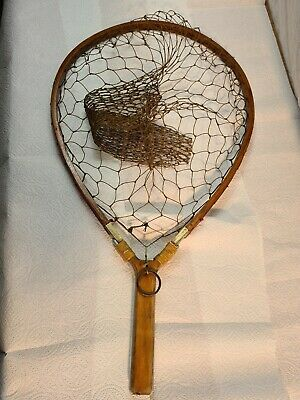 Early Vintage Handmade Trout Landing Net To Hand • 49.99£