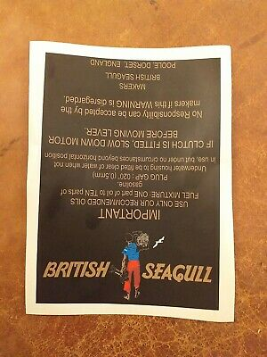 British Seagull Outboard Fuel Tank Sticker Decal 130mm X 180mm...  • 8.99£