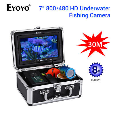 EYOYO 7  Monitor Underwater Breeding Camera 8GB DVR 1000TVL Carry Box Fishfinder • 193.59£