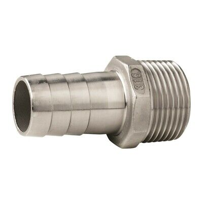 Vetus QA05M Stainless Steel Hose Fitting With Male Thread G 3/8  - 2  • 21.88£