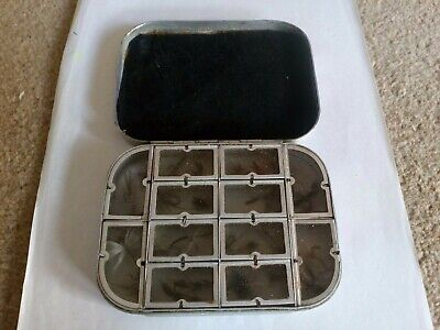 Vintage Fishing Fly Tins And Flies.,   Wheatley. With 12 Compartments. • 3.20£