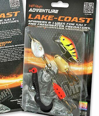 Matt Hayes Adventure 5 Piece ASSORTED LAKE And COAST 5g To 8g All Round Spinners • 9.80£