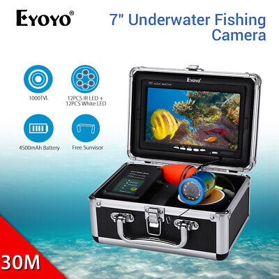 EYOYO 30M Underwater Fish Finder 1000TVL 7  Monitor Fishing Camera For Sea Lake • 153.79£