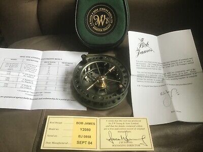 J W Young Young Bob James Y2080 4 1/2 X1 Centrepin Fishing Reel Unused  • 200£