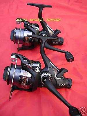 2 X  Carp Fishing Freespool Reels With Free Line   • 37.46£