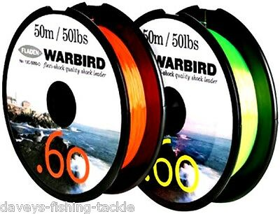 Shock Leader Sea Fishing Line Tackle For Beachcaster Rods Multiplier Reels Rigs • 6.35£