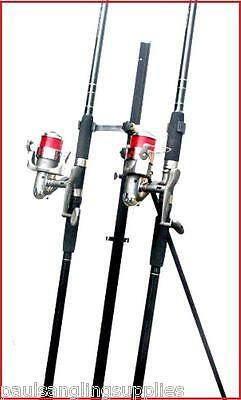 2 X 12 Ft Shakespeare  Rods & Max 70  Reels & Tripod Beachcaster Sea Fishing  • 106.92£