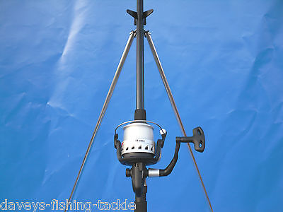 Sea Fishing Kit Set Ngt 12ft Beachcaster Rod+okuma Elc180 Reel+6ft Parker Tripod • 75£