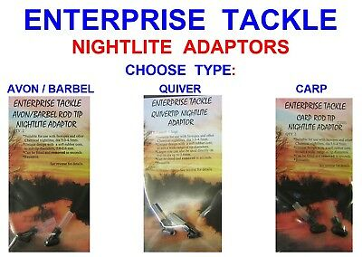 Enterprise Nite Lite Adaptor 2 For Barbel Quiver Tip Rod Night Light Glow Stick • 3.25£