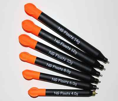 NG Floats Flighted Loaded Pellet Wagglers, Top Quality, Six Sizes • 2.30£