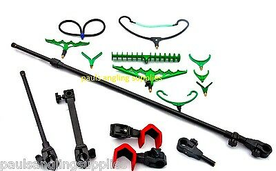 Universal Chair  Fishing  Arm ,Pole Hooks , Rest  & Accessory Pack • 43.93£