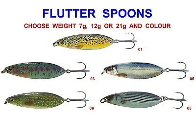 Original Flutter Spoons Game Coarse Fishing Salmon Trout Pike Spinning Rod Lures • 5.95£