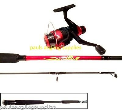 Shakespeare Firebird  8 Ft  Red / Black Spinning Fishing Rod . Reel And Line  • 39.55£