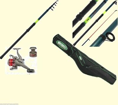 Mitchell Rod Bag Sea Fishing Rod + Ln70 Reel Travel 12ft Beach Surf Rod  + Line • 69.82£