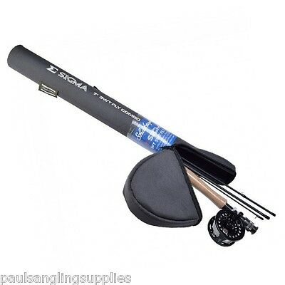 Shakespeare Sigma Fly Fishing Rod ,Reel Line & Backing Fitted Ready To Fish • 69.93£