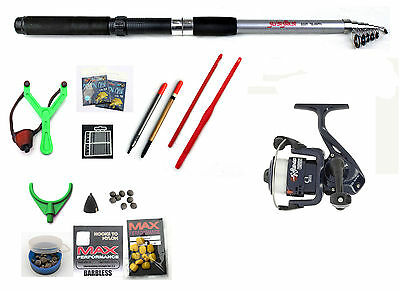 Silver Strike Travel Fishing Holiday Set / Kit Tele 8ft Telescopic Rod Reel  • 26.15£
