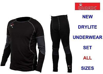 IMAX 2pc DRYLITE UNDERWEAR SET FOR SKIING HIKING SAILING FLOATATION SUIT WADERS • 31.99£