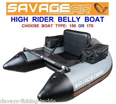 Clearance Savage Gear High Rider Belly Boat For Sea Coarse Fishing Spinning • 314£