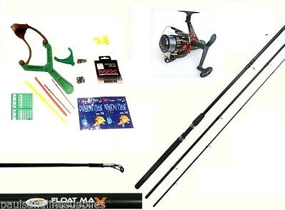 Junior Fishing Outfit Set Kit 12 Ft NGT Rod Sol  Reel Hooks Floats Shot Caty • 32.81£