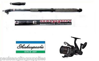 Shakespeare Fishing Beta Reel & 12ft Telescopic Carbon Tele Travel Fishing Rod  • 33.35£
