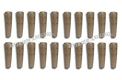 Tail Rubbers For Safety Lead Clips X20 Translucent Brown Terminal Carp Fishing  • 2.49£