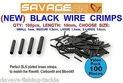 Savage Gear Wire Crimps For Sea Coarse Fishing Line Mono Pike Snap Tackle Trace • 4.95£
