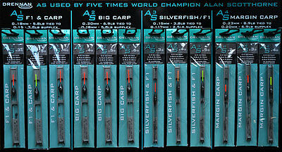 Drennan As1, As2, As3, As4 Ready Tied Pole Rigs - Full Range Available • 4.55£