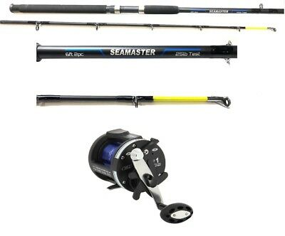 6 Ft Boat Sea Fishing Rod & Ls5000 Multiplier Reel & Line 2 Section 25lb Class  • 52.20£