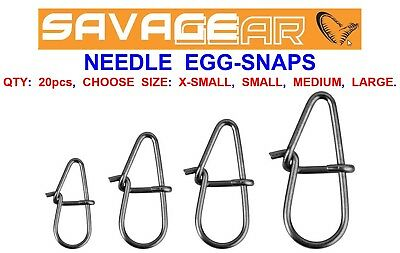 Savage Gear Needle Egg-snaps For Sea Coarse Fishing Line Rigs Lures Wire Traces • 3.95£