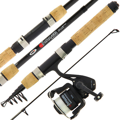 Mini Traveling Fishing Travel Rod & Reel Set Onamuzu Carbon + Line Suitcase Size • 21.66£