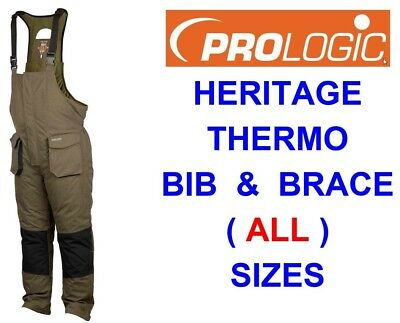 Prologic Heritage Thermo Padded Bib & Brace Waterproof Trousers Carp Fishing • 67.90£