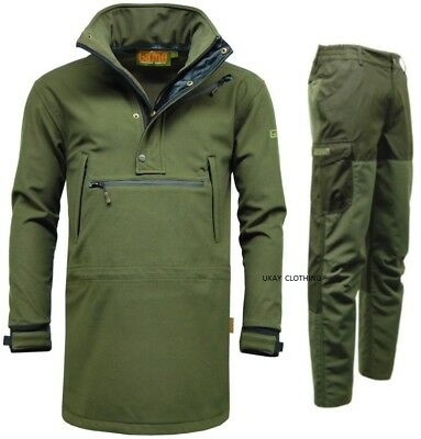 Mens Game Waterproof Smock Jacket Trousers Hunting Fishing Walking • 79.95£