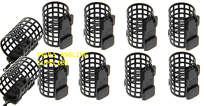 PACK OF 10 NGT Fishing Tackle Round Metal Cage Feeders 25g Swimfeeders / Bait • 11.17£