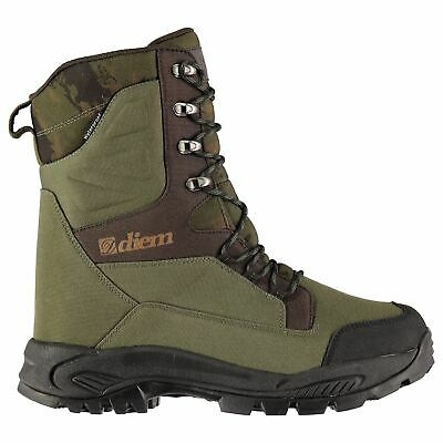 Diem Mens All Terrain Fishing Boots Lace Up Waterproof Insulated Pattern • 39.99£
