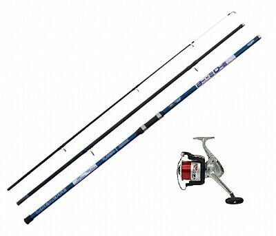 Blue Ocean 14ft Beachcaster Beach Sea Fishing Rod & Reel RED LINE FREE • 46.15£