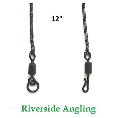 PVA Bag Leadcore Leaders ( 12  Aprox ) Solid Bags Ring Swivel Or Quick Change • 3.99£