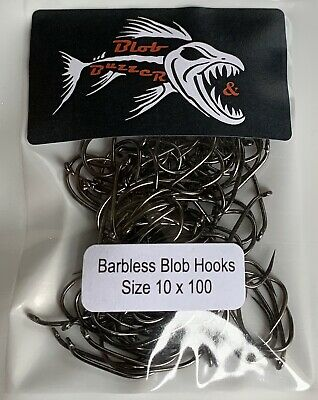 Barbless Blob Hook Size 10 X 100 • 8.50£