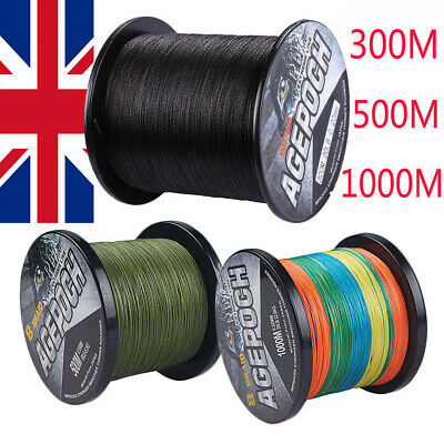UK 8 Strand Green Black Multicolour 300m-1000m Dyneema Braided Fishing Line Carp • 29.92£