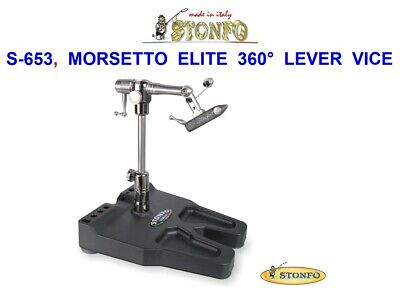 Stonfo S-653 Morsetto Elite 360° Lever Base Vice Fly Tying Trout Dry Wet Flies • 227£