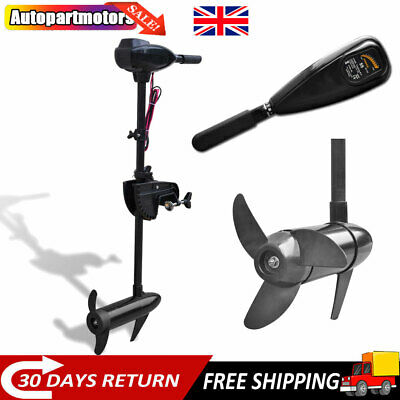 55 /86 Lbs Electric Trolling Motor Outboard Engine For Inflatable Boat Durable • 151.64£