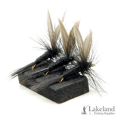 3, 6 Or 12x Black Gnat Dry Trout Flies For Fly Fishing • 3.29£
