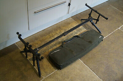 Fox Stalker Plus  2 / 3 Rod  Pod Rrp £109  Carp  Set Up Rod Rest Fishing + • 8.50£