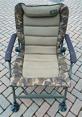Fox R2 Recliner Camo Chair In Great Used Condition Reclining Carp Fishing Chair • 43£