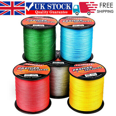 UK 300M/330Yard PE Spectra Braided Fishing Line 4 Strands Multifilament 6-100LB • 7.39£