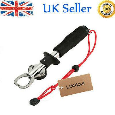 Fish Lip Grabber Gripper Grip Stainless Steel With Weight Scale Ruler UK • 8.90£