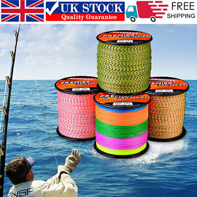 300M PE Spectra Braided Fishing Line Super Strong 4 Strands Fish Line 6LB-100LB • 8.99£
