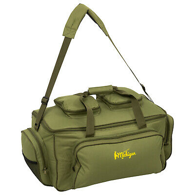 Michigan Large Fishing Carryall Bag Insulated Olive Green Carp Tackle Storage • 22.99£