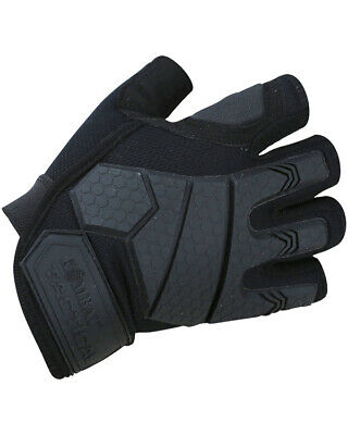 Alpha Fingerless Tactical Gloves - Black Ideal Fishing/Cycling Gloves (Large) • 13.99£
