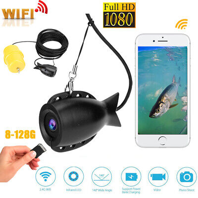WIFI 1080P Underwater Fishing Camera Professional Video Recorder System 8-128G • 76.30£