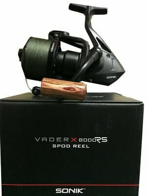 Sonik Vader X 8000RS Spod Reel Quick Torque Drag System Loaded With 30LB Braid • 49.75£